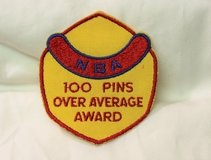 National Bowling NBA Association Over 100 Average Award Embroidered Patch in Kingwood, Texas