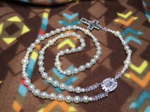 Rosary Bride Iivory Pearls with Crystal Accents Matching Medal and Crucifix Surrounded with Rhin... in Kingwood, Texas