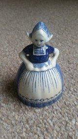 Lovely Vintage Delft Blue Lady Table Bell No 209 – Collectable in Lakenheath, UK