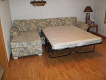 SECTIONAL COUCH w/  QUEEN SLEEPER SOFA - GREAT CONDITION! in Cherry Point, North Carolina