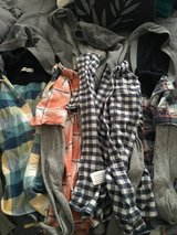 (4) Boys Abercrombie Flannel Hoodies in 29 Palms, California