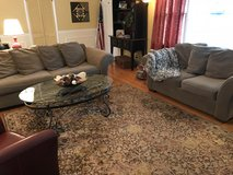 Living room couches, curtains, area rugs in Bolingbrook, Illinois
