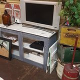Barnwood Gray & White TV Stand / Storage in Spring, Texas