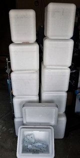 11 THICK Insulated Foam Coolers Including Reusable Ice Packs in Travis AFB, California