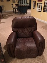 2 Large Brown Real Leather Recliners in Quantico, Virginia