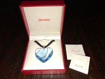 Baccarat Blue Crystal Heart Pendant in Travis AFB, California