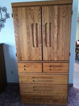 TV Cabinet-Solid Oak in Yucca Valley, California