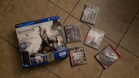 PS3 500GB w/5 Games & 4 controllers in Fairfield, California