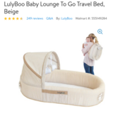 Lulyboo travel bed and lounge for infant in Yucca Valley, California