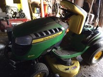 """John Deere 42"""" D-130 Riding Lawn Mower includes trailer and lift in Travis AFB, California"""