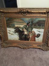 Man riding Horse beside a woman Painting in Palatine, Illinois