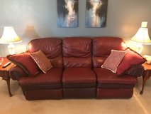 burgundy leather recliner couch in Byron, Georgia