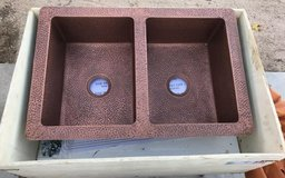 BRAND NEW & GORGEOUS hammered copper sink!! in 29 Palms, California