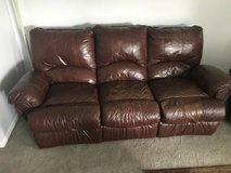 Great Leather Couch and Recliner! in Bolingbrook, Illinois