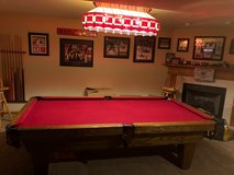 Connelly Pool Table, Tiffany Style Stained Glass Light, Ping Pong Table Top in Oswego, Illinois