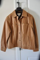 Talbots Brown Leather Jacket (Med)(Negotiable) in Hampton, Virginia