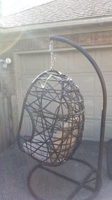 Indoor/Outdoor Hanging Egg Chair w/stand in Spring, Texas