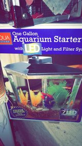 1 Gallon fish tank and food in Chicago, Illinois