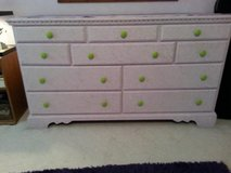 Solid Wood Dresser/10 Drawers/Repaint to Match Your Decor in Aurora, Illinois