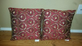 Burgandy sofa cushions/pillows in Travis AFB, California
