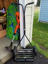 push lawn mower&electric trimmer in Tacoma, Washington