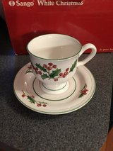 White Christmas dishware by Sango in Plainfield, Illinois