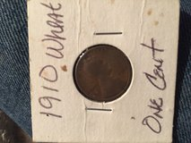 1910 wheat penny in Plainfield, Illinois
