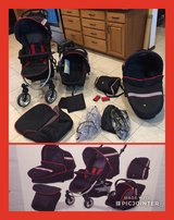 Stroller / car seat set with rain & winter cover in Yucca Valley, California