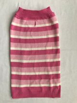 Pink stripe dog sweater size L in Naperville, Illinois