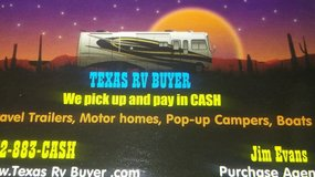 Cash for travels, mh, pop-ups in Sugar Land, Texas