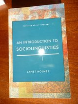 Holmes, An Introduction to Sociolinguistics in Stuttgart, GE