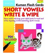 Kumon Short Vowels Write & Wipe Flash Cards in Okinawa, Japan
