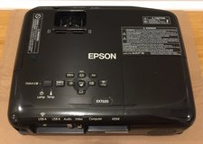 Epson Projector w/Ceiling Mount and Projector Screen in Fort Gordon, Georgia