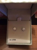 Diamond earrings 1/2 CTTW in Grafenwoehr, GE