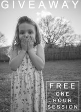 Free ONE HOUR photo session in Perry, Georgia