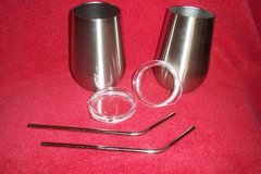 TropicBird Stainless Steel Wine Glasses(new in box) in Baytown, Texas