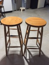 2Amish wood stools in Bolingbrook, Illinois