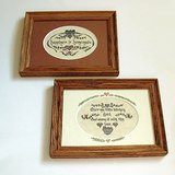 VTG WALL ART KITCHEN SAYINGS OAK FRAMES 8X6 in Oswego, Illinois