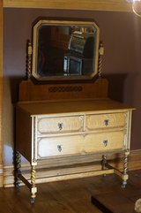 Two Matching Antique Dressers (One with Mirror) in Aurora, Illinois