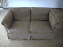 Beige cloth covered couch in Ramstein, Germany