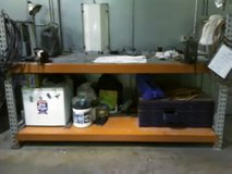 Heavy duty shop bench with 2 vices in Aurora, Illinois