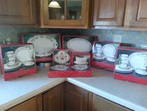 Xmas Dishes/12 Piece Set + Serving Pieces/80% Off Retail Price/(in boxes )/Perfect Condition! in Aurora, Illinois