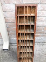 Vintage Print Type Case Cabinet Spacer Storage in Conroe, Texas