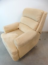 Contemporary Microfiber Beige Recliner in League City, Texas