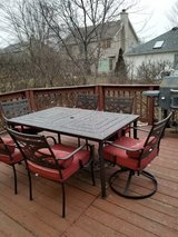 Patio set with 6 chairs and cushions in Joliet, Illinois