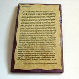 DESIDERATA WALL PLAQUE WOOD INSPIRATIONAL in Oswego, Illinois