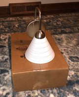 lights- nickel sconce with white shade (12) in Oswego, Illinois