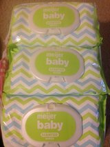 9 new packs Meijer baby wipes 72 Count each in Oswego, Illinois
