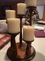 Wooden tier candle holder in Elgin, Illinois