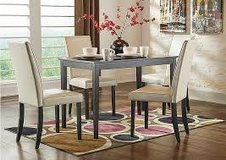 dining room table with 4 upholstered chairs in Camp Lejeune, North Carolina
